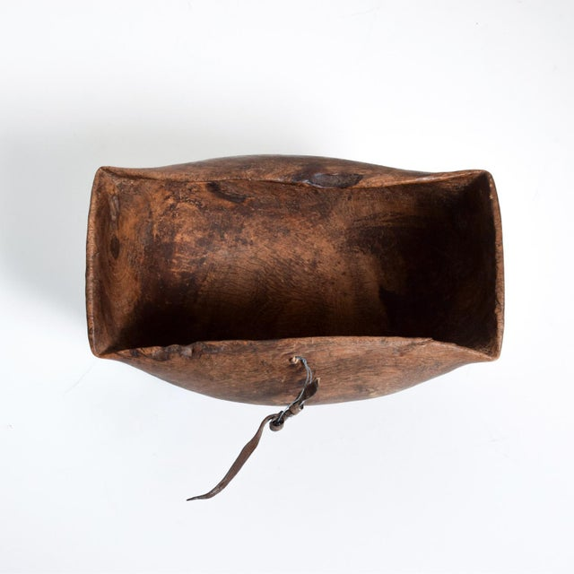 We are pleased to offer for your consideration, a beautiful wood bowl with an amazing vintage patina. Unmarked. Great...