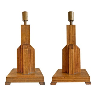 Pair of Early 20th Century American Folk Art Candlesticks For Sale