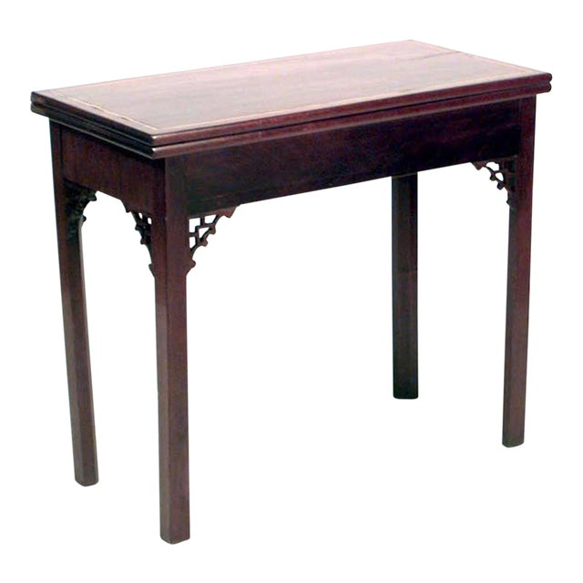 Cool English Georgian Style Mahogany Flip Top Console Table Gmtry Best Dining Table And Chair Ideas Images Gmtryco