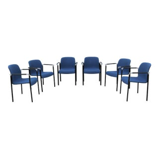 1990s Mid-Century Modern Herman Miller Dining Arm Chairs - Set of 6