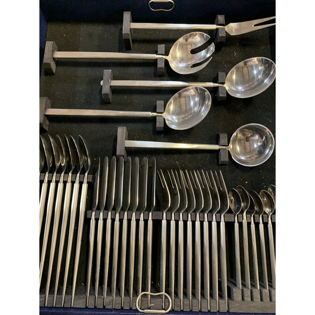 Danish Modern Mid-Century Danish Stainless Service for 8 Flatware - 82 Pc. Set For Sale - Image 3 of 7