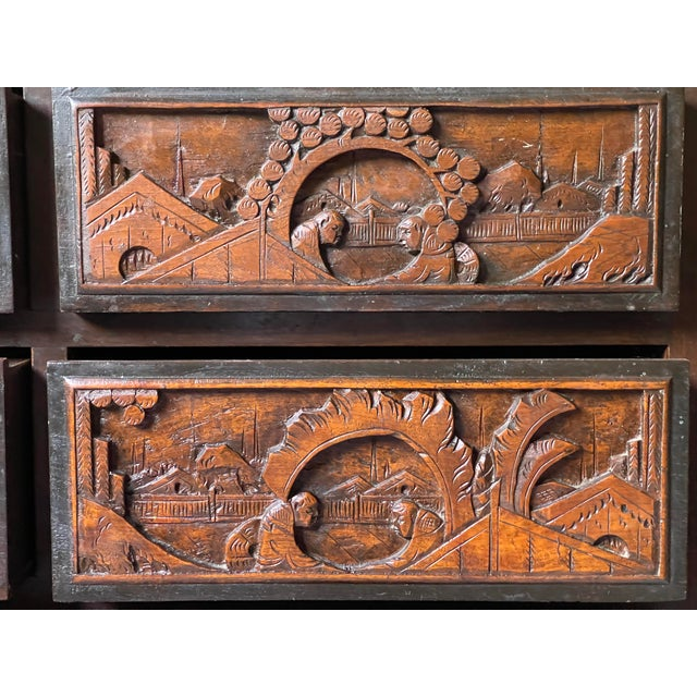 Brown Chinoiserie Carved Camphor Wood Batchelor's Chest For Sale - Image 8 of 13