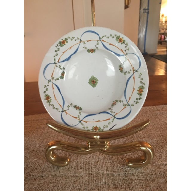 Antique Italian Hand painted pottery from the Deruta region. Very nicely done with no imperfections or wear/use. Glaze...