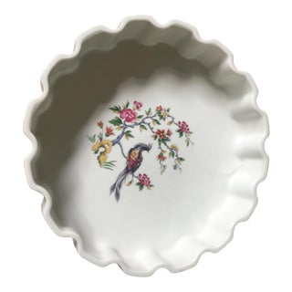 Late 20th Century French Bird of Paradise Baking Dish For Sale