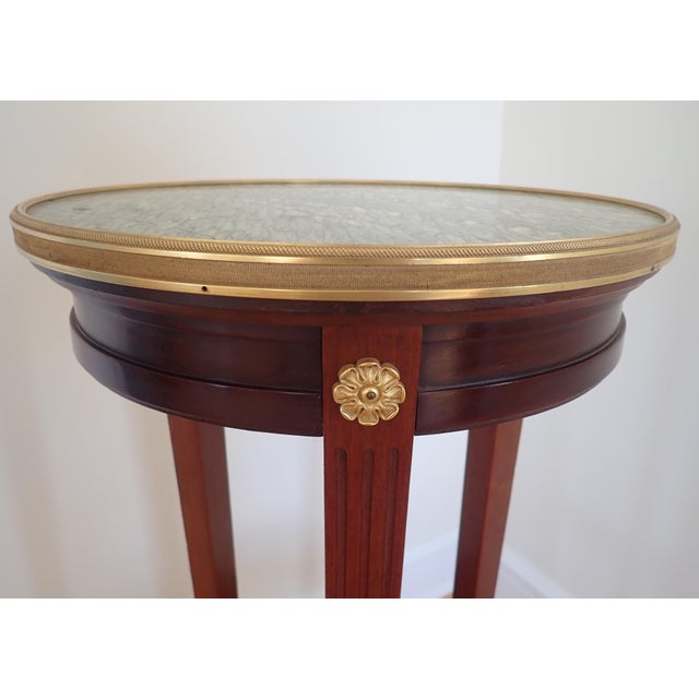 Mahogany Marble Top Pedestal For Sale In New York - Image 6 of 9