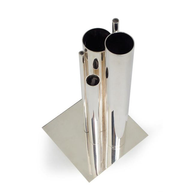 Sophisticated Gio Ponti For Christofle Orgue Graduated Tube Silver