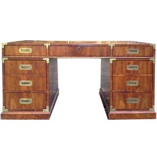 1960s Mid-Century Modern Henredon Campaign Partner Desk