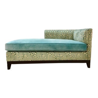 Pearson Co. Greek Key Chaise For Sale
