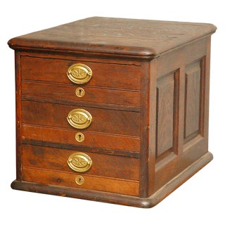 Late 19th Century Desk Top File Cabinet For Sale