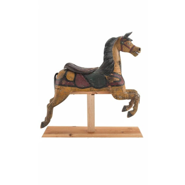 19th Century Charles Dare American Hand Painted & Carved Carousel Horse Figure For Sale - Image 11 of 11