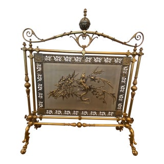 19th Century Aesthetic Movement Style Brass Fireplace Screen For Sale