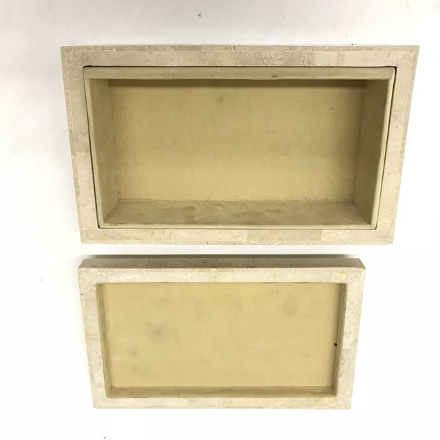 1970s Maitland-Smith Tesselated Stone Box For Sale - Image 5 of 6