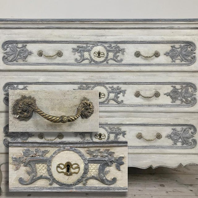 Early 19th Century 19th Century Country French Regence Painted Commode For Sale - Image 5 of 13