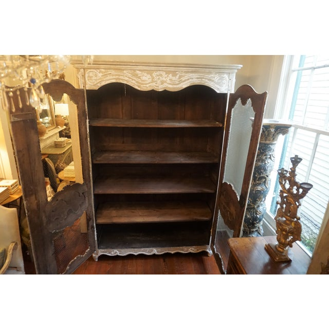 White Early 19th Century Oak Bibliotheque For Sale - Image 8 of 13