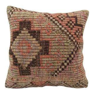 Vintage Handmade Turkish Kilim Pillow Cover For Sale