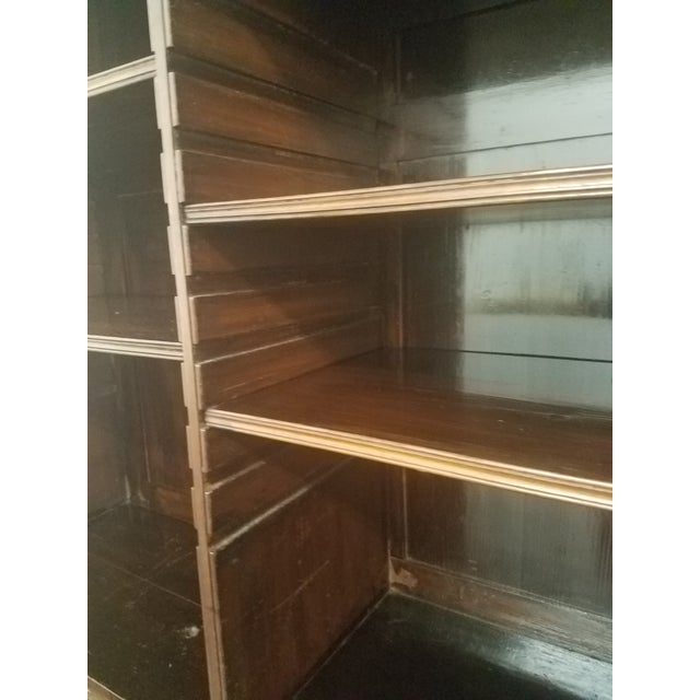 Antique English Bookcase Cupboard - Mahogany With Marquetry For Sale - Image 10 of 13