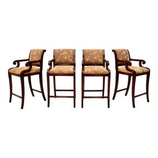 Nancy Corzine Classic Regency Bar Chair or Stool For Sale