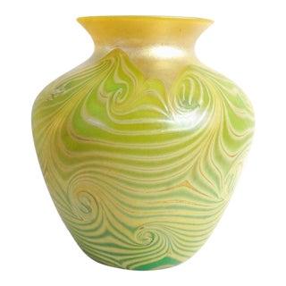 Tiffany Studios Marked Large Favrile Glass Vase For Sale