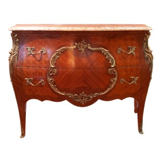 Antique French Bombe Chest For Sale