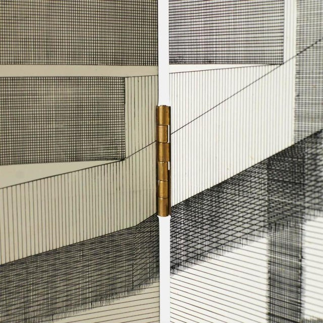 Piero Fornasetti Scaletta Folding Screen by Piero Fornasetti For Sale - Image 4 of 9
