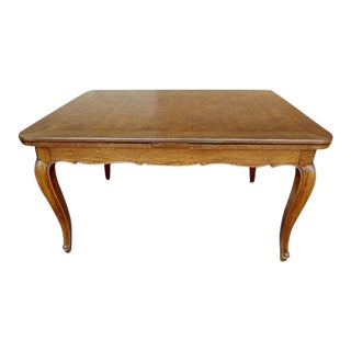 19th Century French Louis XV Oak Dining Table