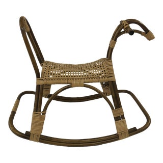 Vintage Mid Century Modern Bentwood Rocking Horse Toy For Sale