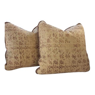 Rose Tarlow for Melrose House Medici Sienna Pillows - a Pair For Sale