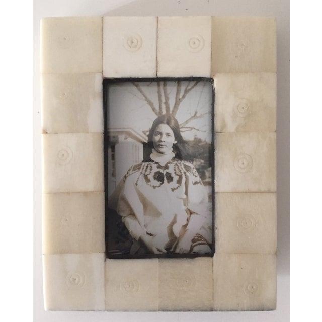 Vintage Bone Picture Frame - Image 2 of 5