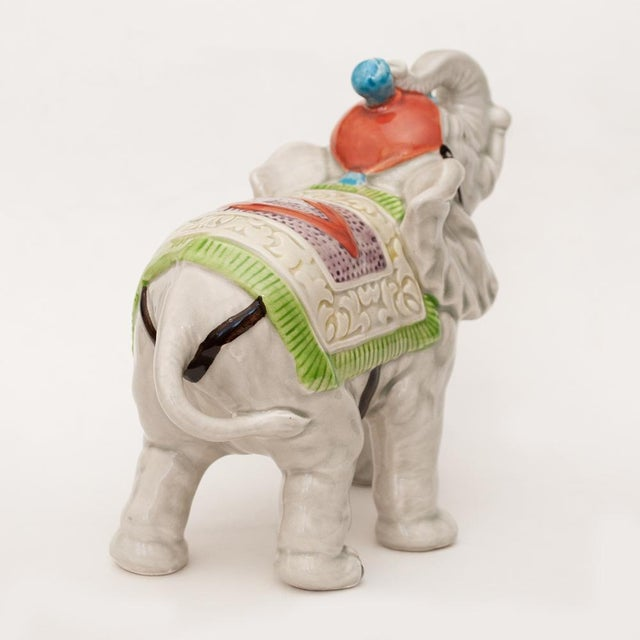 Ceramic 1983 Japanese Porcelain Circus Elephant Figurine or Bookend For Sale - Image 7 of 13