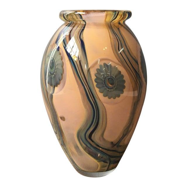 2006 Robert Eickholt Studio Art Glass Vase For Sale