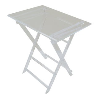Mid-Century Modern Lucite Folding Tray Table