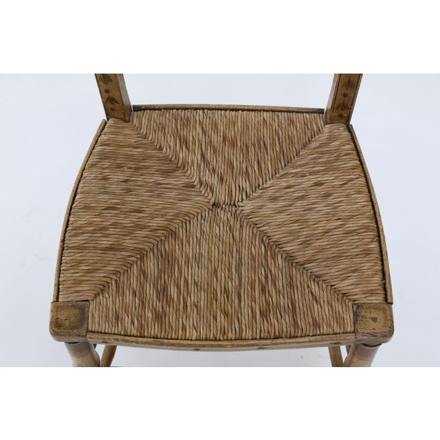 Pair of Faux Bamboo Side Chairs For Sale - Image 9 of 11