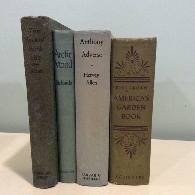 Vintage Green Book Stack - Set of 4 - Image 2 of 11