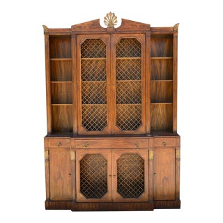 1930s Grosfeld House Regency Style Breakfront Secretaire For Sale