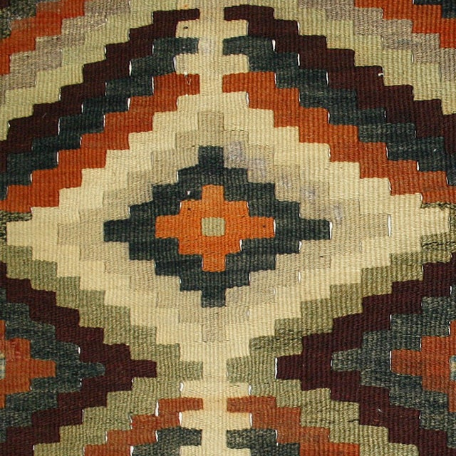 Striking Earth Tone Vintage Kilim - 2'11 X 12'1 - Image 3 of 3