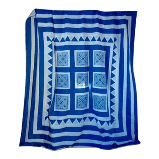 Hmong Blue and White New Cotton Duvet Cover For Sale