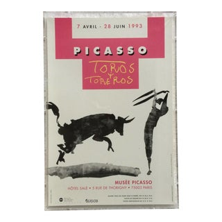Musée Picasso Exhibition Poster in Lucite Frame