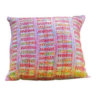 Contemporary Linear Neeru Kumar Silk Cushion For Sale