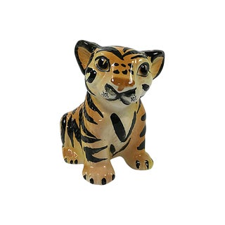 Ceramic Tiger Cub Figure For Sale