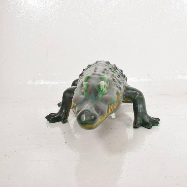 Whimsical Sergio Bustamante Papier Mâché Crocodile Sculpture, Mexico, 1970s For Sale In San Diego - Image 6 of 12