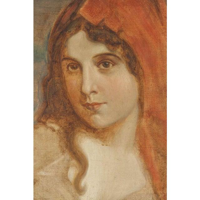 Antique Oil Portrait of a Woman - Image 4 of 6