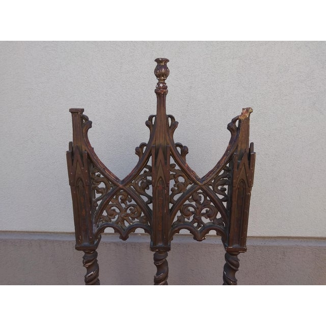 16th Century Period Renaissance 16th Century Gothic High Back Chair For Sale - Image 5 of 12