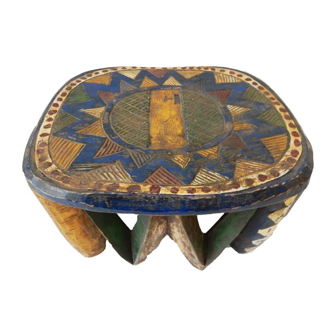 African Old Nupe Low Stool For Sale - Image 4 of 10