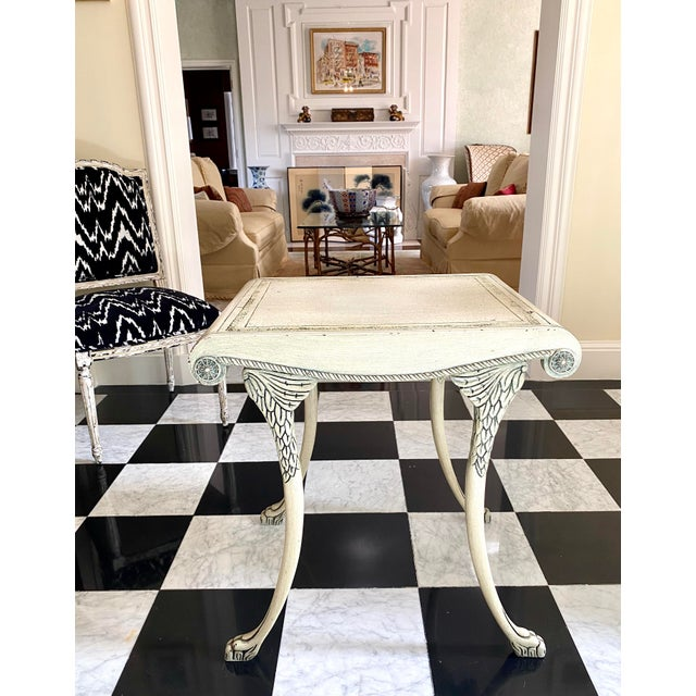 English English Scroll Table With Faux Painted Detail For Sale - Image 3 of 11