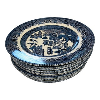Churchill Salad Plate Set of 9 For Sale
