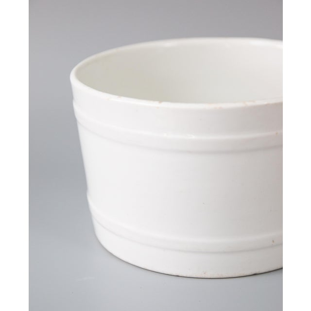 19th Century English White Ironstone Planter For Sale - Image 4 of 7