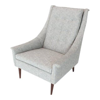 New Upholstery Mid-Century Modern Lounge Chair