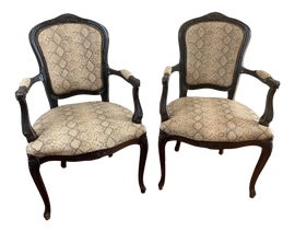 Image of English Traditional Bergere Chairs