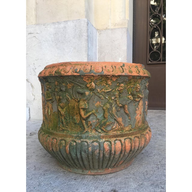 Ceramic High Relief Italian Terracotta, Circa 1900 For Sale - Image 7 of 9