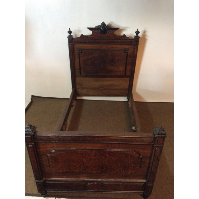 Edwardian Hardwood Full Size Vintage Bed - Image 2 of 7